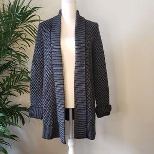 Chunky Knit Black and Grey Cardigan